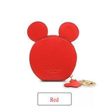 Novo design de moda Mickey cabeça carteiras das mulheres carteiras bolsa pequena bonito desenhos animados do kawaii chaveiro titular do cartão de sacos de dinheiro para as meninas ladie(China)