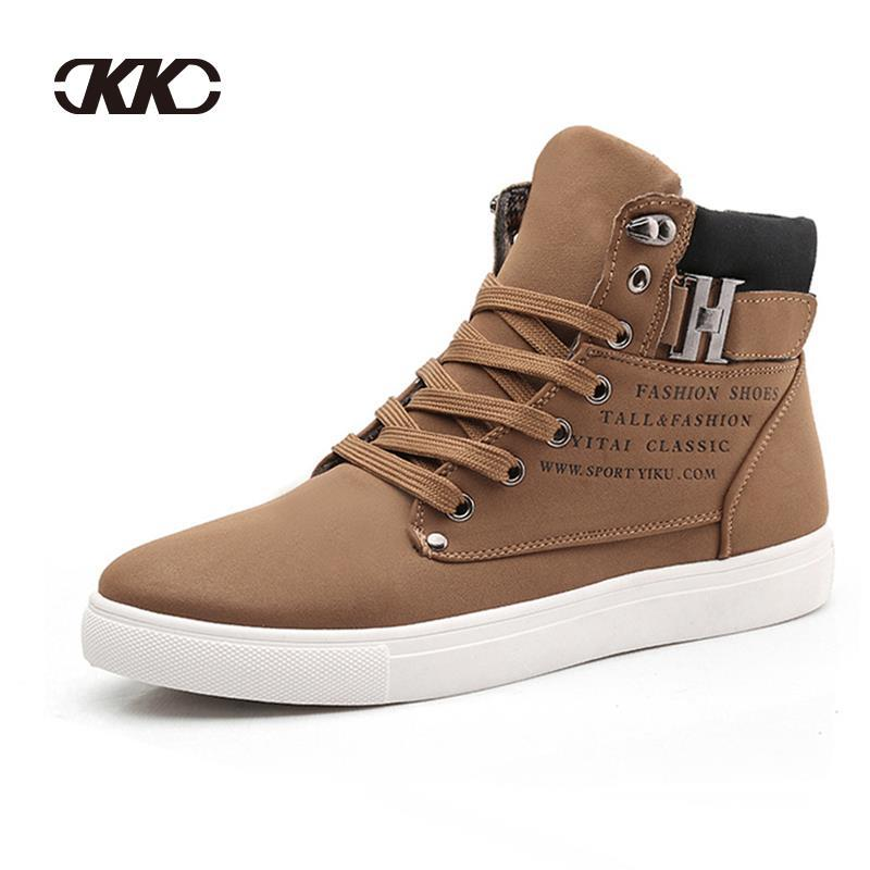 Men Sneakers 2015 Fashion New Winter Front Lace-Up Casual Ankle Boots Autumn Sport Men Shoes Waterproof Wedge Sneakers Discount(China (Mainland))