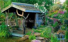 postbox  hand-paintedgarden villa wrought iron mailbox  hand-drawn European-style mail box(China (Mainland))