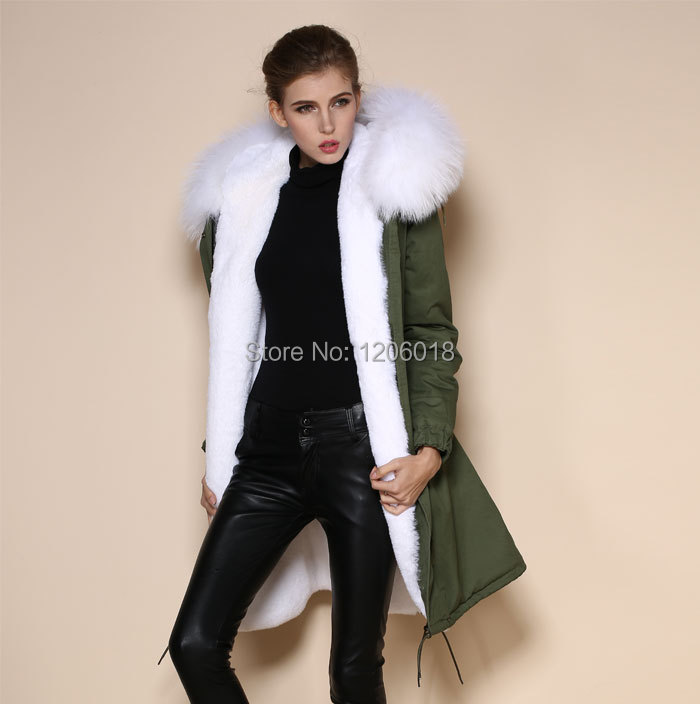 Parka Coat With White Fur Hood - JacketIn
