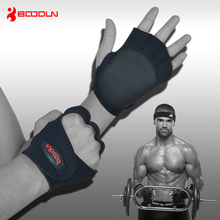 High Quality Fitness Hand Pads Weightlifting Gloves  Non-slip With Wrist Exercise Training Gym Gloves Dumbbells Free Shipping