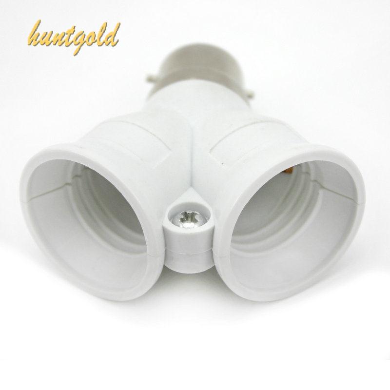Гаджет  1Pc B22 To 2 x E27 Converter Screw Socket Splitter Adapter Light Lamp Bulb Holder None Свет и освещение