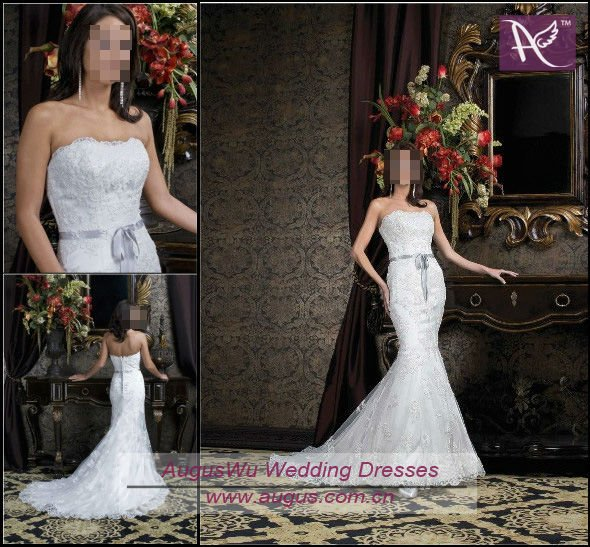 Lace Mermaid Wedding Dress Ireland : Awm new design lace mermaid irish wedding dress