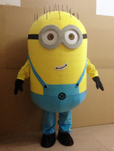 In-stock Cheap Despicable me minion mascot costume adults size for kids party
