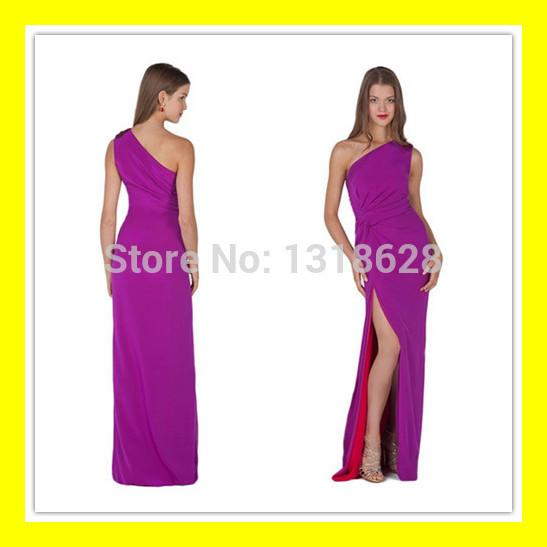Extravagant Prom Dresses Long White Orange Purple Under Hire Sheath Floor-Length None Built-In Bra Beading One-Shoul 2015 Cheap(China (Mainland))