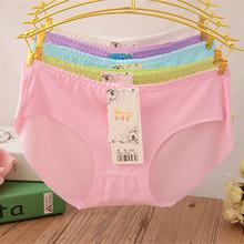 Underwear women bragas thongs ladies low waist seamless briefs milk silk one-piece seamless underwear comfortable panties 352(China (Mainland))