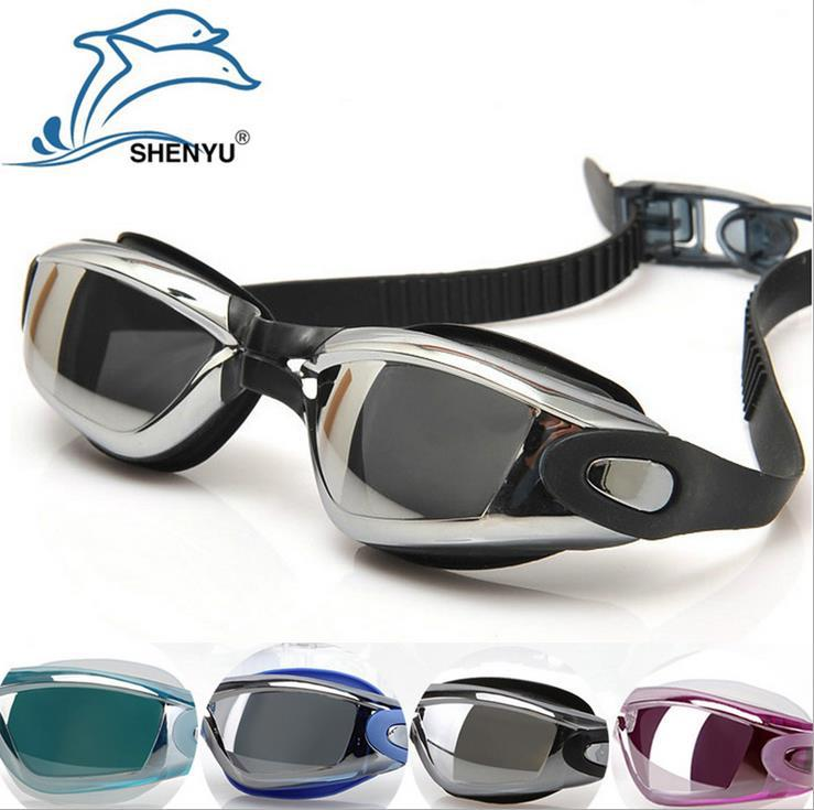 Sell like hot cakes style cool fashion plating the lens preventing ultraviolet swimming goggles prevent mist goggles(China (Mainland))