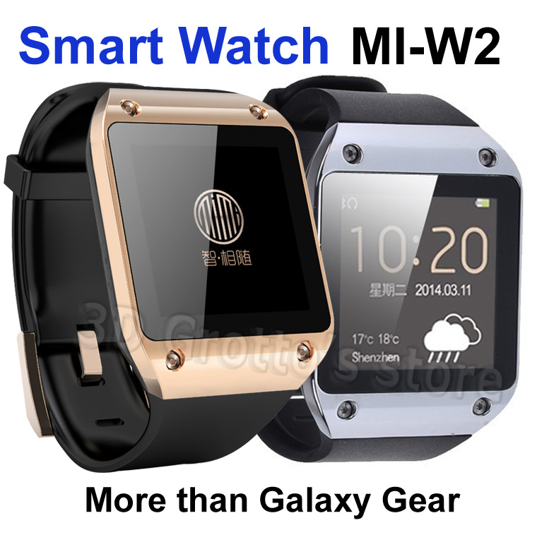"""Bluetooth Smart Watch MI W2 for Android with 1.54"""" touch screen MTK6250 Smartwatch synchronization with phone(China (Mainland))"""