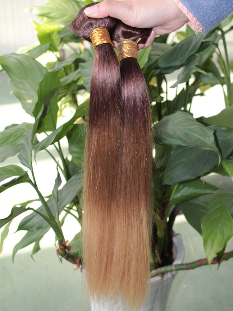 Bolin T3 three tone human hair straight brazilian ombre hair extensions  3pcs cheap Ombre brazilian hair weave bundles very soft