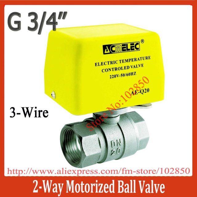 "3/4""(DN20) 2-way Electric ball valve,AE-Q20 3wire connection ,220V/240V AC,"