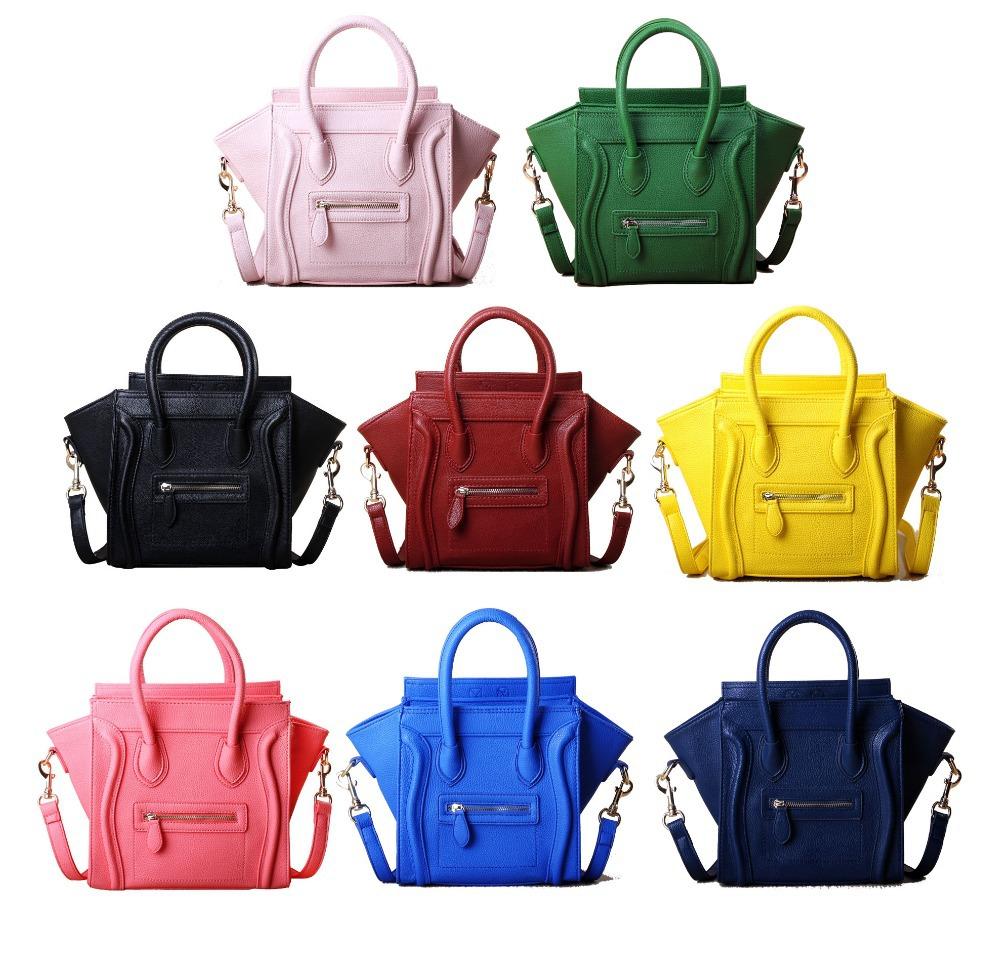 2015 Brand women handbag smiley messenger bag fashion Phantom High quality mini smiling face handbag GG030(China (Mainland))
