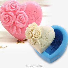 Hot Selling Rose letter Shaped Silicone Mold Cake Decoration Fondant Cake 3D Mould Bakeware Kitchen Accessories Cooking Tools