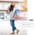 Vintage Style Stripe Union American Flag Design Girl Bag Backpack Cotton Rucksack