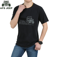 Buy AFS JEEP Brand-clothing Summer Dress Men's Tee Shirt Short Sleeve Casual Cotton T Shirts Size M-XXXL 33 for $13.39 in AliExpress store