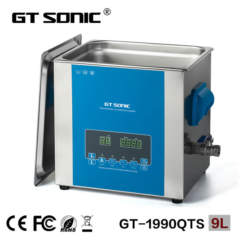 GT SONIC 9L fuel injector ultrasonic cleaning machine nozzle and carburetor washing machine GT-1990QTS(China (Mainland))