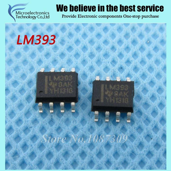 20pcs free shipping LM393 LM393DR LM393D SOP-8 Analog Comparators Dual Differential new original(China (Mainland))