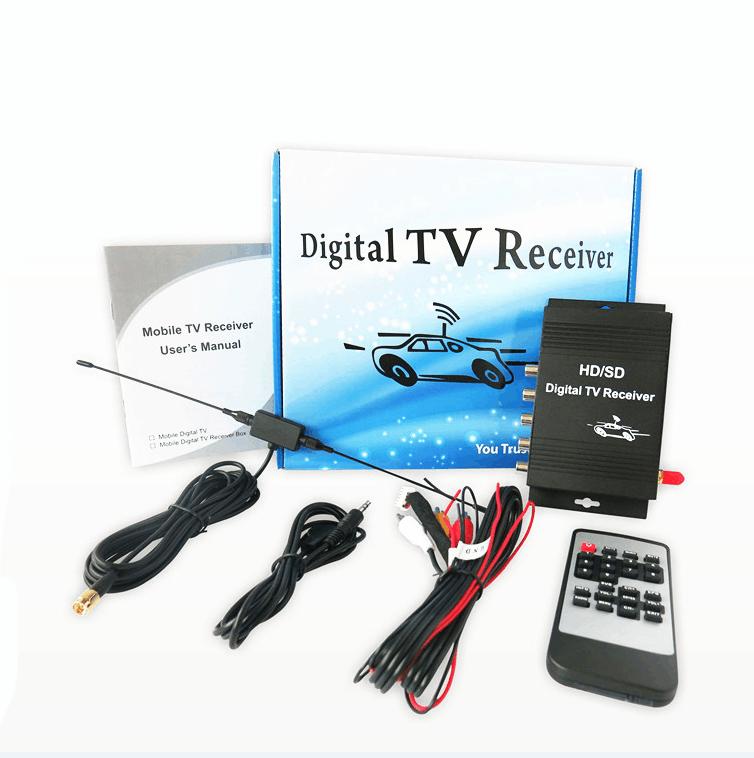 Free shipping ISDB T TV Box Tuners Car ISDB T Digital TV Tuner Receiver For Brazil