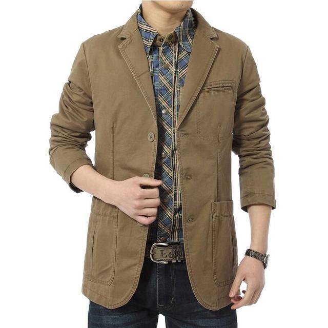 Новый бренд пиджак мужчины свободного покроя пиджаки хлопок джинсовые парка мужская ...