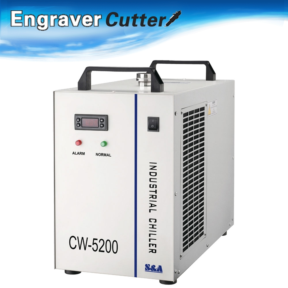 CW-5200BG Industrial Water Chiller for Single 130/150W CO2 Laser Tube Cooling, 0.68HP, AC 1P 220V, 60Hz(China (Mainland))