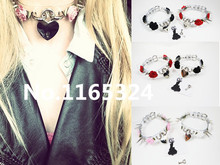 Fashion Sexy punk Harajuku 100% Handcrafted Flower Transparent Clear Safe Heart Collar Choker Lock Key Necklace women jewelry