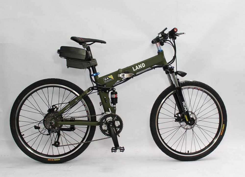 Discount Price! Cool Electric Bike 36V 350W Electric Bicycle Green Color, Foldable Frame with 36V 11Ah Seatpost Lithium Battery(China (Mainland))