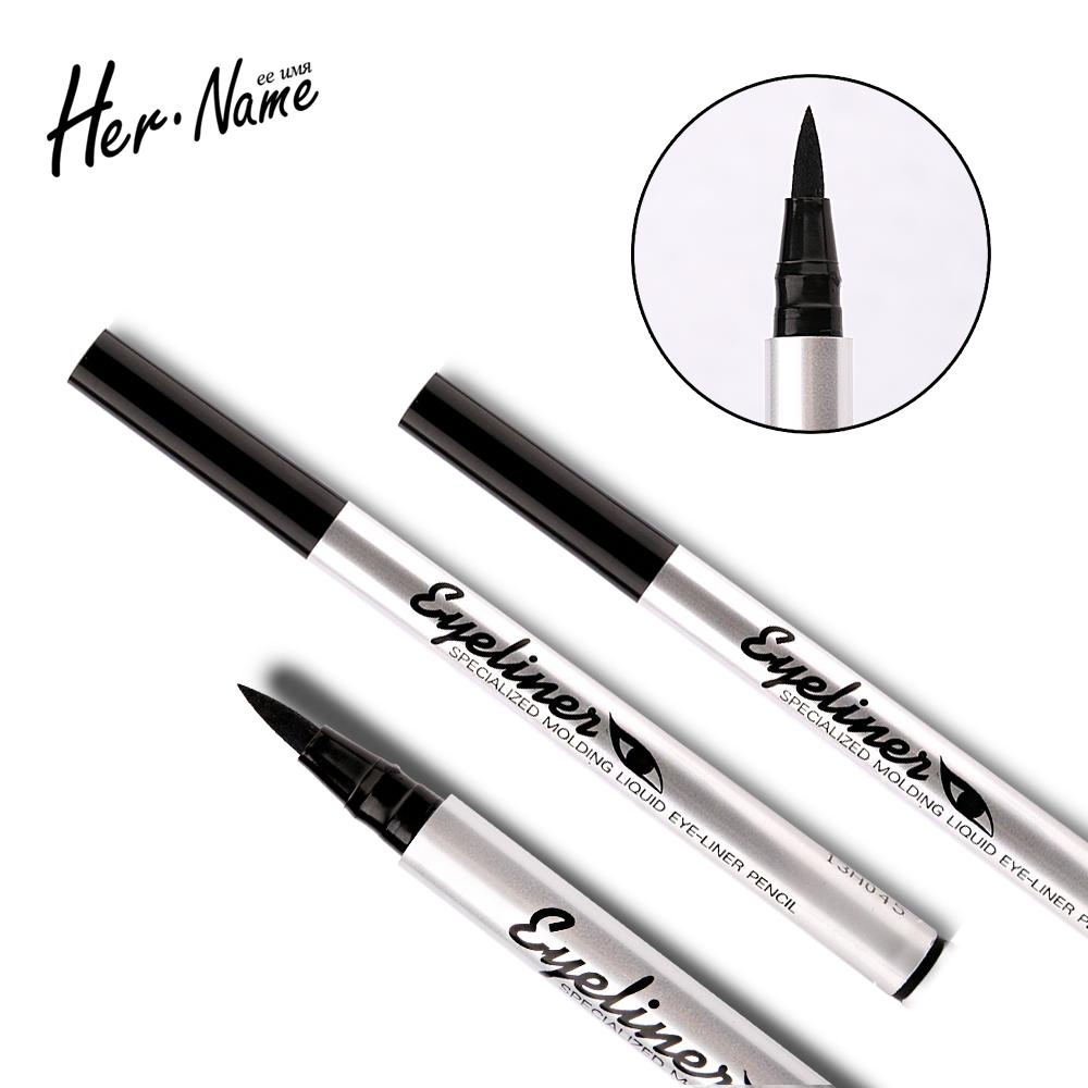 Her name Anti-blooming eyeliner waterproof makeup eyes tools eyeliner pen black eye pencil Easy on the face makeup long-lasting(China (Mainland))