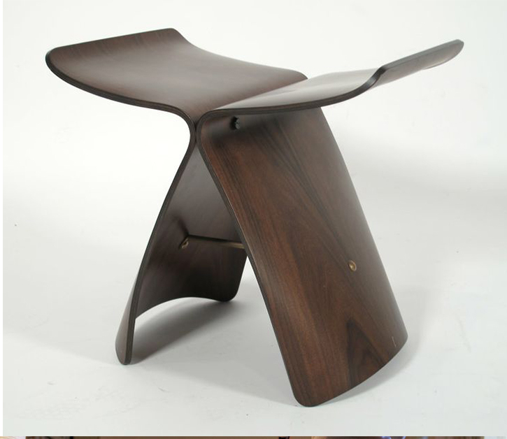 Free Shipping -  American Walnut  Color Butterfly Stool<br><br>Aliexpress
