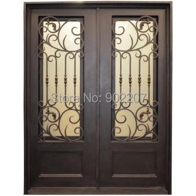 Custom design Dark Bronze Wrought Iron Entry Door id12(China (Mainland))