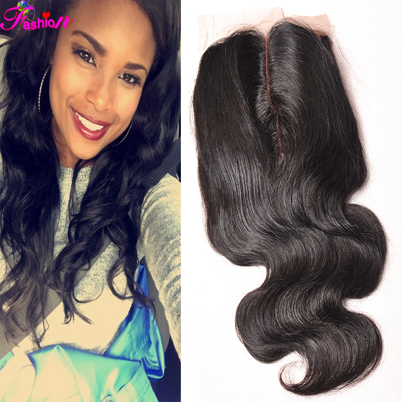 Brazilian Body Wave Lace Closure Unprocessed Virgin Brazilian Body Wave Closure 4*4 Human Hair Cheap Lace Closure Body Wave(China (Mainland))