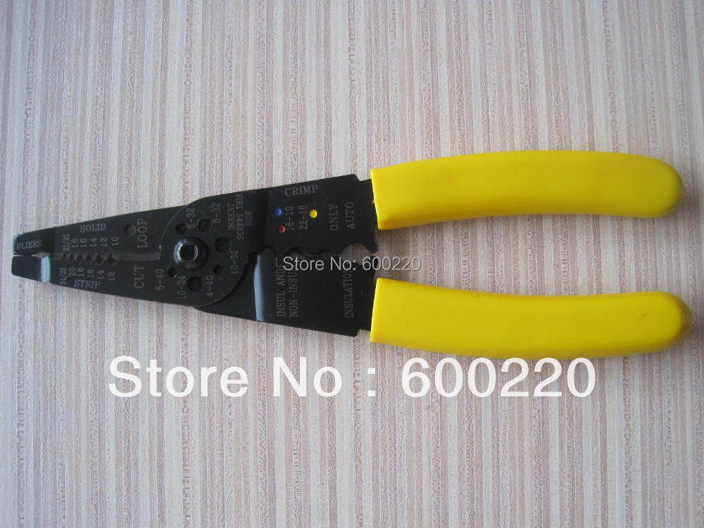 PVC Coated Multifunction Handle Terminal Crimper Bolt Wire Stripper Cutter 8.3<br><br>Aliexpress