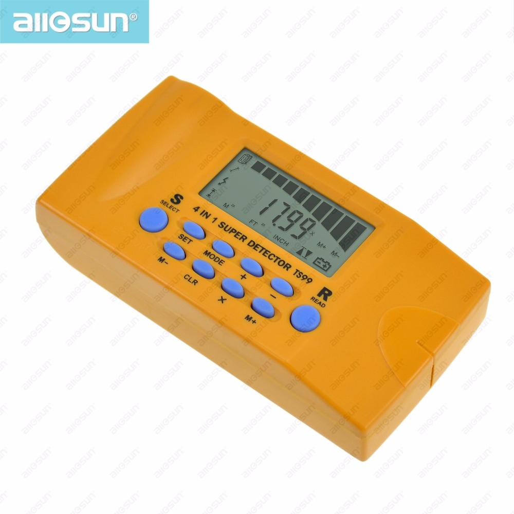 all-sun TS99 4 in 1 super detector ultrasonic household detector Stud/Metal/Voltage/Distance laser AC wires metal detector(China (Mainland))