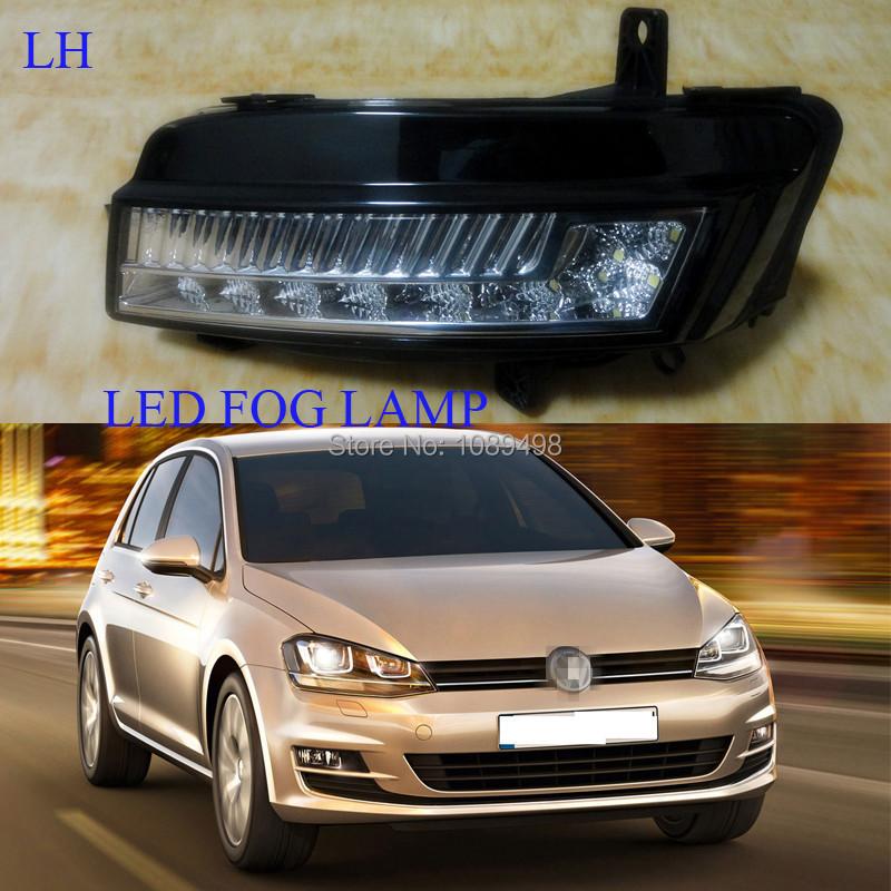 1 Pieces LH fog light LED for VW MK7 Volkswagen Golf VII 7(China (Mainland))