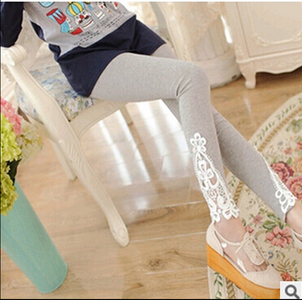 2015 New Cotton Openwork Lace Fashion Sexy Women Leggings Summer Style Sport Legging Hot Sell Free