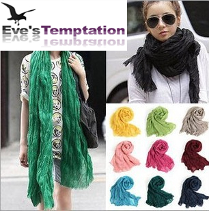 Cheapest 2015 Winter American and Europe Women Fashion Solid Cotton Voile Warm Soft Candy Scarf Shawl Cape 20 Colors Available(China (Mainland))