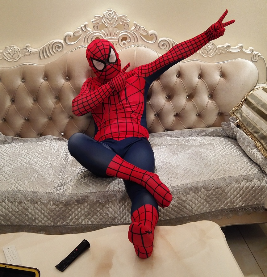 2017 New Ultimate Spiderman costume The best Spider-Man costume Amazing Spiderman clothing Halloween costumes cosplay spider man(China (Mainland))