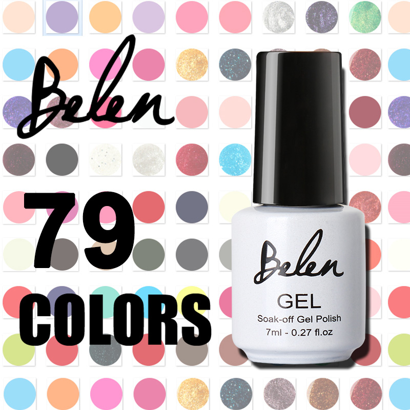 Belen Soak-off LED UV Gel Nail Polish Color Nail Gel Polish Vernis Semi Permanent Top Coat Base Coat Gel Lak Varnishes Gelpolish(China (Mainland))