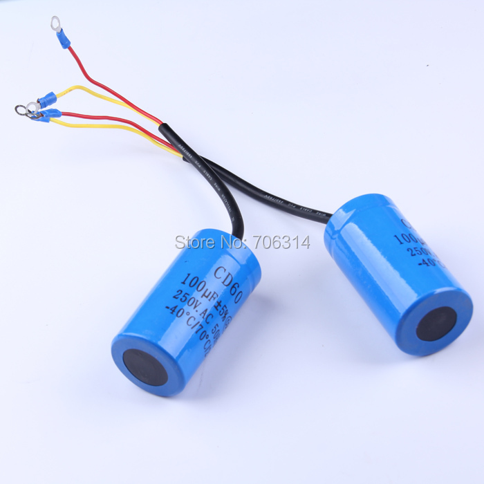 CD60 100UF heavy duty YC series electric motor starting capacitor(China (Mainland))
