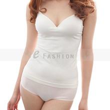 Free Shipping ! Fashion Women's Sexy  Bodycon Cotton Padded  Bra Tops Cozy BaseDeep V-Neck Tank Top Vest Tops(China (Mainland))