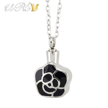 Buy silver 316L stainless steel quincunx urn cremation jewelry necklace pendant perfume locket o-shaped chain for $7.00 in AliExpress store