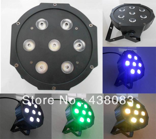 7x10W LED PAR Light  RGBW 4IN1 LED Par Can 70W Flat Par64 fast shipping<br><br>Aliexpress