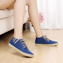 Buy 2017 Casual Canvas women shoes Fashio Flat wi casual shoes lace ladies Walking Shoes zapatos mujer Spring Autumn Flats Shoes for $19.26 in AliExpress store