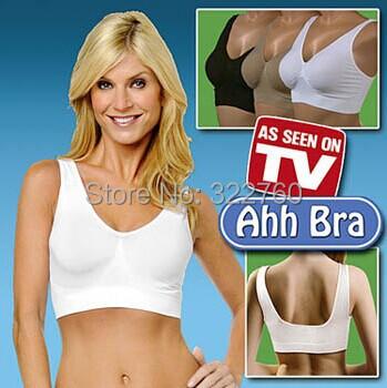 AHH Hot Sale Bras Sutian 3pcs/lot Shipping, Ladies Underwear Sports Bra, Seamless Without Steel Prop Sleep-no box(China (Mainland))