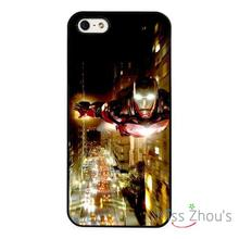 Ironman Marvel Flying Skyline back skins mobile cellphone cases cover for iphone 4/4s 5/5s 5c SE 6/6s plus ipod touch 4/5/6
