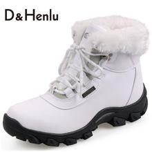 {D&H}Winter Women Snow Boots Waterproof & Skid Plush Snow Boots Lady's Trend Cotton-padded Shoes Thickening Warm Shoes Women(China (Mainland))