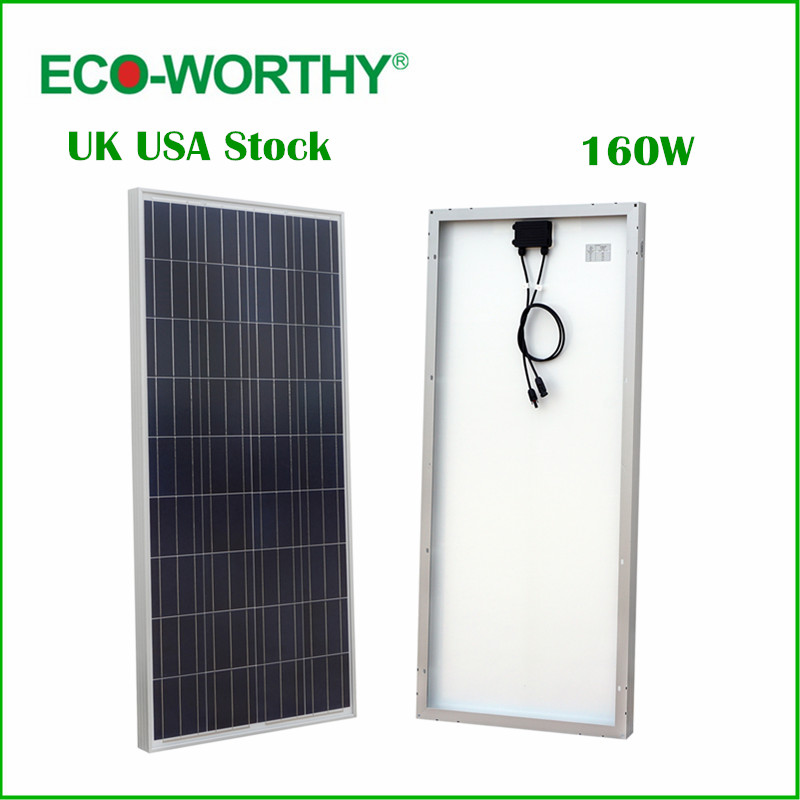 ECO-WORTHY 160W Polycrystalline Photovoltaic PV Solar Panel Module 12V off Grid Battery Charging for Boat Yacht Household RV(China (Mainland))