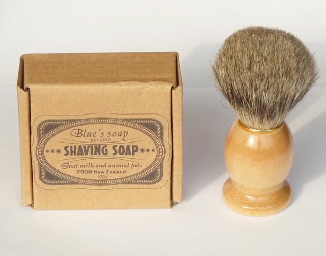 2 шт./компл. синий бренд мыло с барсук щетка для волос для лицо чистой