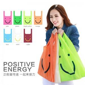 Smiling Face Nylon Foldable Shopping Bag Promotional Bags shopping-bag bolsos necessaire marca shopper Supermarket bolsas bolsa(China (Mainland))