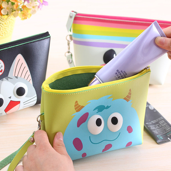 Multifunction Women Cute Travel Insert Organizer Handbag Purse Large liner Lady Makeup Cartoon Cosmetic Bag Travelling Bag