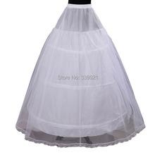 Cheap Price Hot Sale 2 layer 3 Hoop Elastic Waist Bridal Gown Drawstring Dress Petticoat Underskirt Crinoline Wedding Dress(China (Mainland))