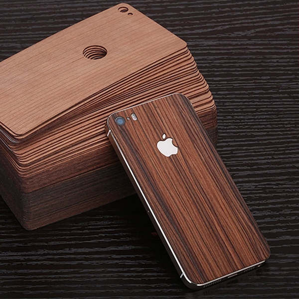 Simple For 5S back stick / wood real wood film after film for Iphone 5 5s SE case(China (Mainland))